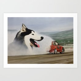 Andy Hateley and Wolf Gonzo Art Print
