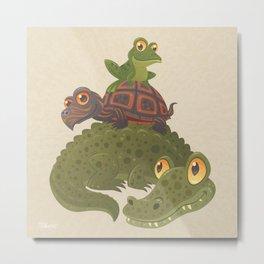 Swamp Squad Metal Print