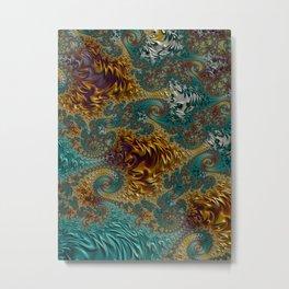 Marigold Garden - Fractal Art Metal Print