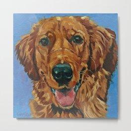 Coper the Golden Retriever Dog Portrait Metal Print