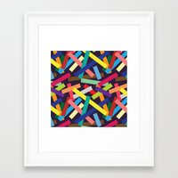 confetti Framed Art Prints featuring Confetti by Joe Van Wetering