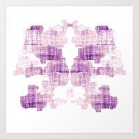 rorschach Art Prints featuring Rorschach by Adrienne
