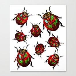 Agitated Lady Beetles Canvas Print