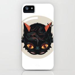 Devil cat iPhone Case