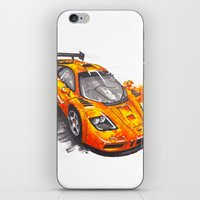 f1 iPhone & iPod Skins featuring McLaren F1  by Claeys Jelle Automotive Artwork
