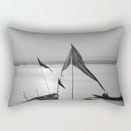 By the Ganges Rectangular Pillow