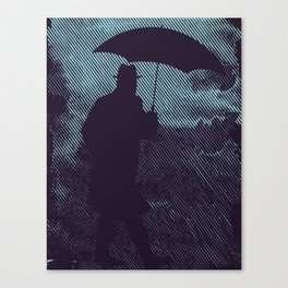in the hardly rain Canvas Print