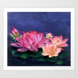 The Purity of Lotus Art Print