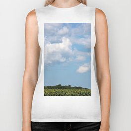 Field of Sunflowers Horizontal Biker Tank