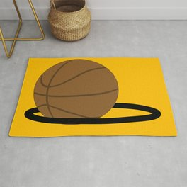 Basketball In The Hoop Rug