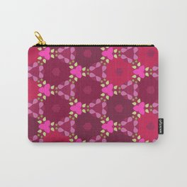 Kaleidoscope Flowers RedPink Carry-All Pouch