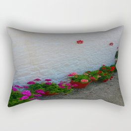 Geraniums small Village | Greece Rectangular Pillow