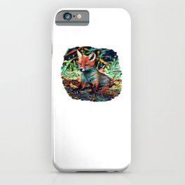 I Dreamt A Baby Red Fox   Painting  iPhone Case