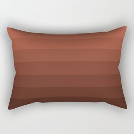 Coral brown striped Rectangular Pillow