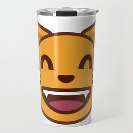 cat face emozy Travel Mug