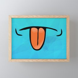 tongue licker Framed Mini Art Print