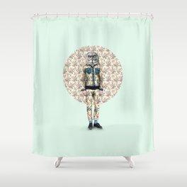 Hipster Owl Man Shower Curtain