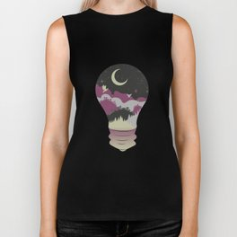 City in a Lightbulb Biker Tank