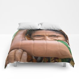 Colors of hidden smile Comforters