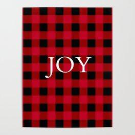 Joy Red Buffalo Check Poster