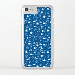 Bowling Pattern | Strike Spare Team League Clear iPhone Case