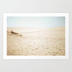Morning Dunes Art Print