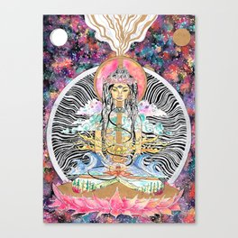 Elemental Goddess Watercolor Painting Canvas Print
