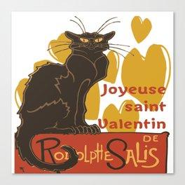 Joyeuse saint Valentin Le Chat Noir Parody Canvas Print