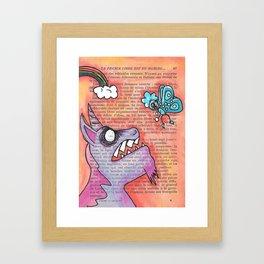 Butterfly Vs Unicorn Framed Art Print