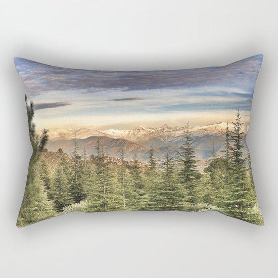 """""""Wildderness"""". Adventure at the mountains... Rectangular Pillow"""