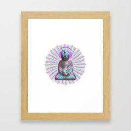 Electric Budha Framed Art Print