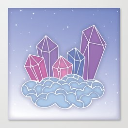 Gemstone castle in the sky Canvas Print