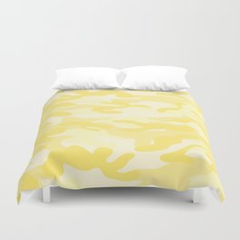 light Yellow Military Camouflage Pattern Duvet Cover