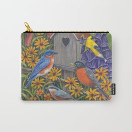 Birds and Birdhouse Carry-All Pouch