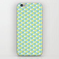 Teal and Yellow Pattern iPhone & iPod Skin
