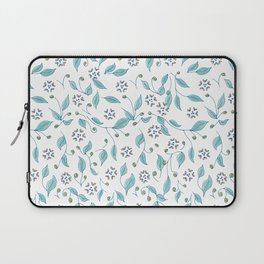 Blooming Hearts Flower Pattern Laptop Sleeve