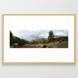 Remnants of 1883 Ironton with Hurricane Peak Beyond Framed Art Print