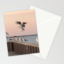 """""""A Sea Gull's Departure"""" Photography by Willowcatdesigns Stationery Cards"""
