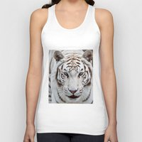 tiger Tank Tops featuring TIGER TIGER by Catspaws