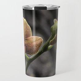 Orange Orchid Travel Mug