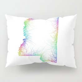 Rainbow Mississippi map Pillow Sham