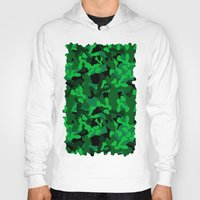 camouflage Hoodies featuring Camouflage (Green) by 10813 Apparel
