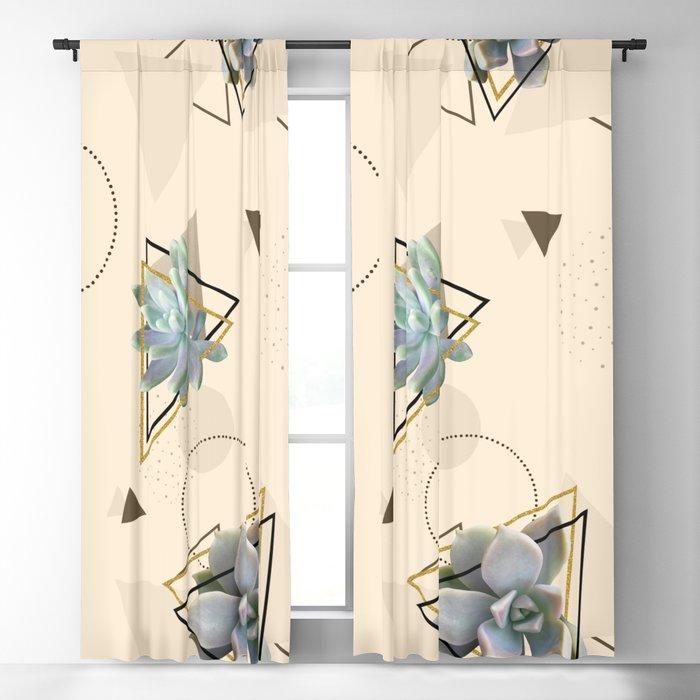 Pretty Succulents #society6 #decor #buyart Blackout Curtain