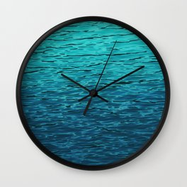 Tropical Water Pattern, Turquoise Ocean Water Wall Clock