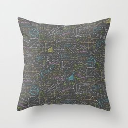 Math Lessons Throw Pillow