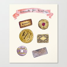 Biscuits for teatime Canvas Print