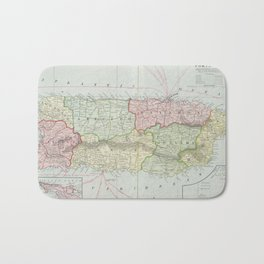 Vintage Map of Puerto Rico (1901) Bath Mat