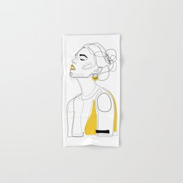 Yellow Lip Hand & Bath Towel