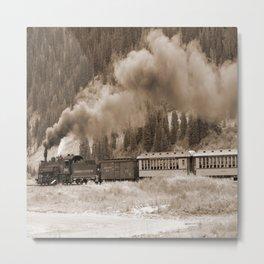 Steam Hauled Train - Engine 486 Metal Print