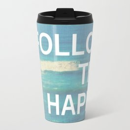 Follow the Happy Travel Mug